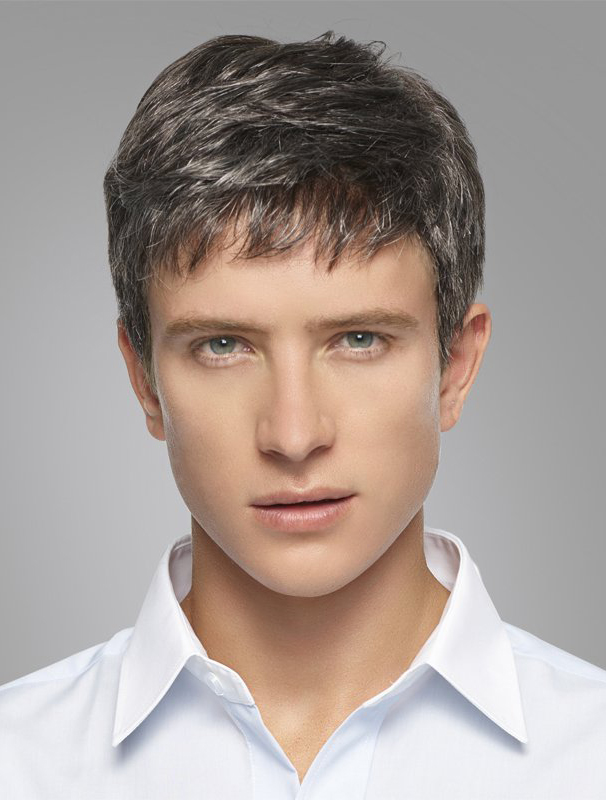 Great 100% Hand-tied Synthetic Men Wigs