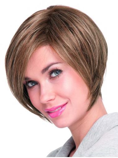 Stylish Blonde Lace Front Short Wigs