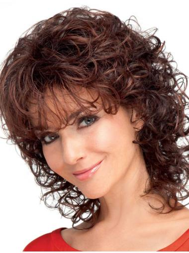 Quality Medium Curly Synthetic Wigs