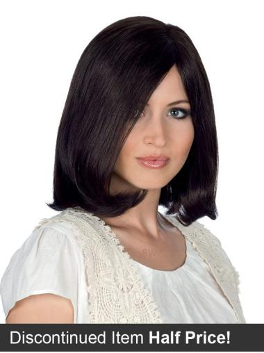 Shoulder Length Human Hair Hand-tied Wigs