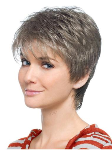 Lace Front Synthetic Grey Wigs
