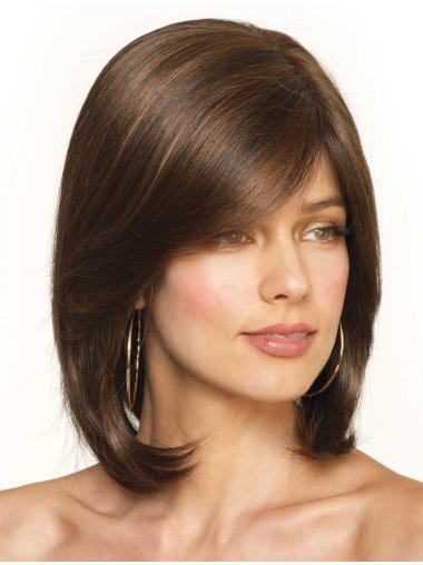 Natural Shoulder Length Synthetic Wigs