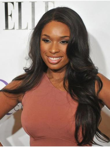 Long Lace Front Discount Black Without Bangs Wavy Jennifer Hudson Wigs