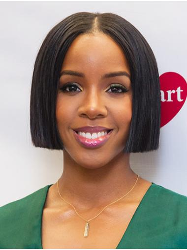 "Chin Length Lace Front Remy Human Hair 10"" Bobs Fabulous Kelly Rowland Wigs"