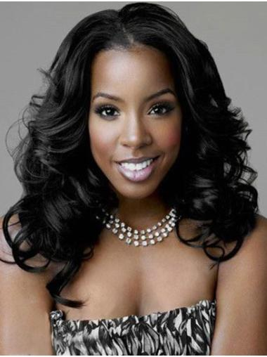 """Shoulder Length Lace Front Remy Human Hair 16"""" Without Bangs High Quality Kelly Rowland Wigs"""