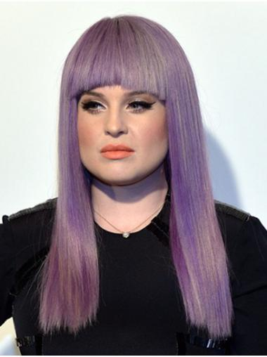 """Long Capless Synthetic 18"""" With Bangs Perfect Kelly Osbourne Wigs"""