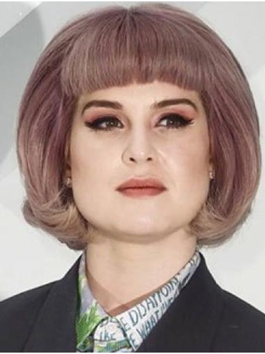 "Chin Length Capless Synthetic 12"" Bobs Ideal Kelly Osbourne Wigs"