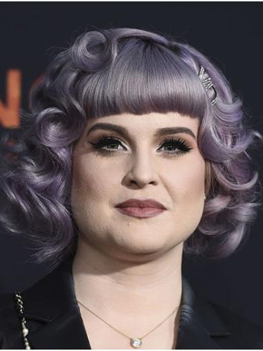 "Chin Length Lace Front Synthetic 12"" Bobs Fashionable Kelly Osbourne Wigs"