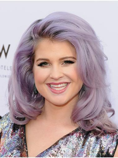 """Shoulder Length Lace Front Synthetic 16"""" Without Bangs Convenient Kelly Osbourne Wigs"""