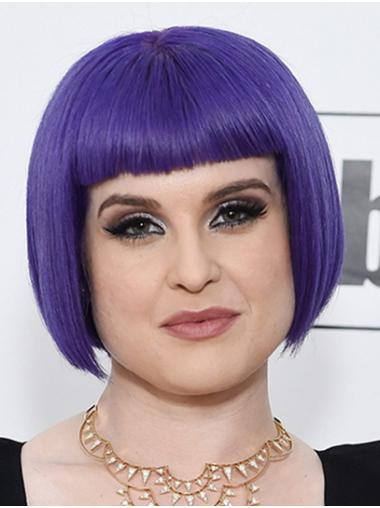 """Chin Length Capless Synthetic 10"""" Bobs Gorgeous Kelly Osbourne Wigs"""