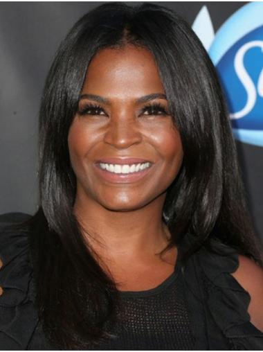 """Long Lace Front Synthetic 16"""" Without Bangs Fashion Nia Long Wigs"""