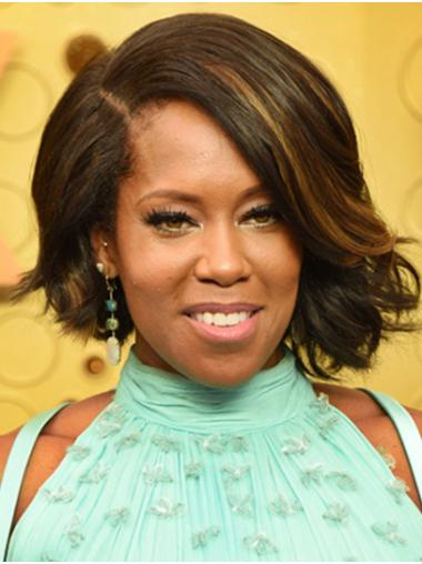"""Chin Length Lace Front Synthetic 12"""" Bobs Stylish Regina King Wigs"""