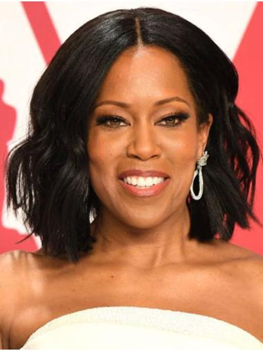 "Chin Length Lace Front Synthetic 12"" Bobs New Regina King Wigs"