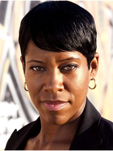 "Short Lace Front Synthetic 6"" Boycuts Comfortable Regina King Wigs"