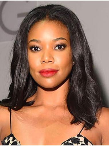 "Shoulder Length Lace Front Synthetic 16"" Without Bangs Modern Gabrielle Union Wigs"