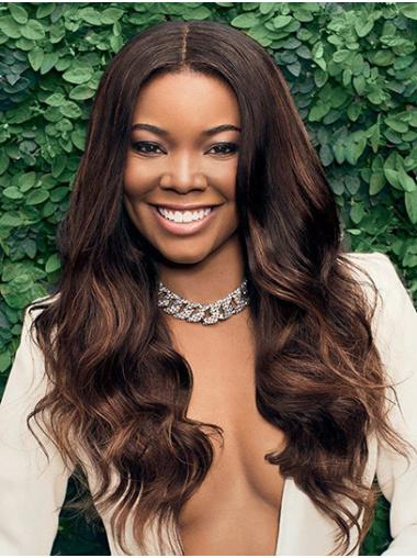 """Long Lace Front Synthetic 22"""" Without Bangs Online Gabrielle Union Wigs"""