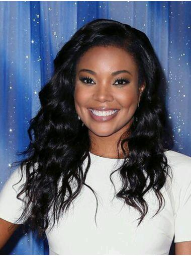 "Long Full Lace Remy Human Hair 18"" Without Bangs Best Gabrielle Union Wigs"
