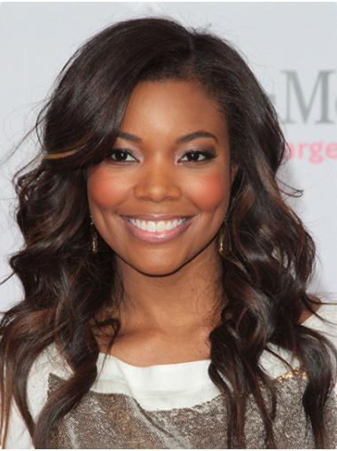 """Long Lace Front Synthetic 16"""" Without Bangs Comfortable Gabrielle Union Wigs"""