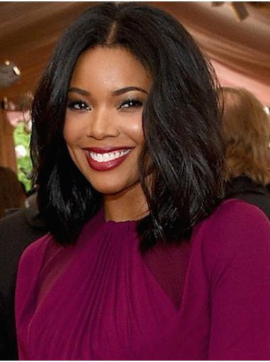 """Shoulder Length Lace Front Synthetic 14"""" Bobs Sleek Gabrielle Union Wigs"""