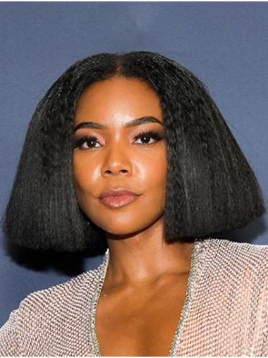 """Chin Length Lace Front Synthetic 12"""" Bobs Modern Gabrielle Union Wigs"""