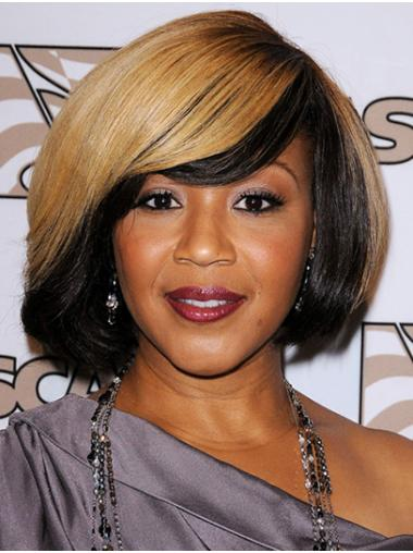"""Chin Length Capless Synthetic 12"""" Bobs Hairstyles Erica Campbell Wigs"""