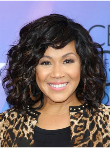 """Shoulder Length Full Lace Synthetic 14"""" Without Bangs Suitable Erica Campbell Wigs"""