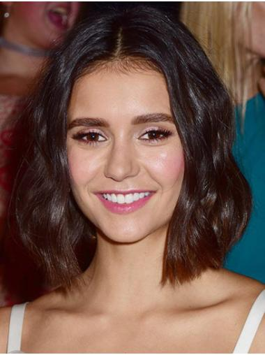 "Chin Length Full Lace Synthetic 12"" Bobs Modern Nina Dobrev Wigs"