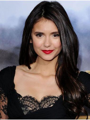 """Long Lace Front Synthetic 20"""" Without Bangs Hairstyles Nina Dobrev Wigs"""