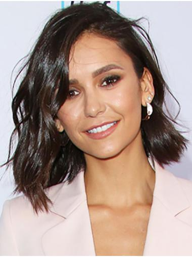 "Shoulder Length Lace Front Synthetic 14"" Bobs Top Nina Dobrev Wigs"