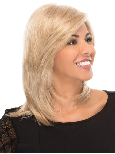 """With Bangs 14"""" Shoulder Length Straight Gorgeous Medium Wigs"""