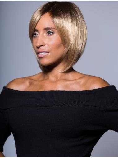 Fabulous Chin Length Straight Blonde Bobs African American Wigs