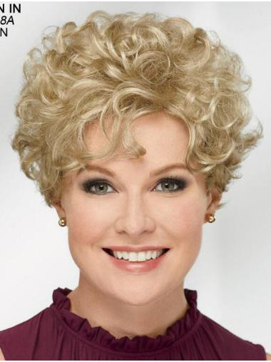 """Curly Blonde Short 8"""" Trendy Classic Wigs"""