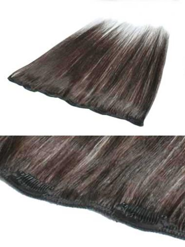 Top Brown Straight Clip in Hair Extensions