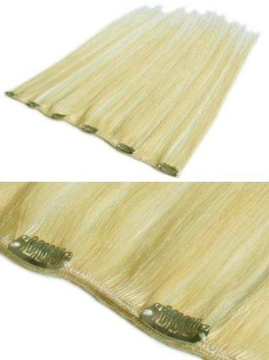 Wonderful Blonde Straight Clip in Hair Extensions