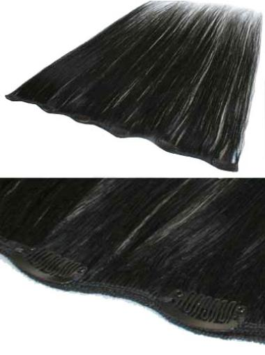 Cheap Black Straight Clip in Hair Extensions