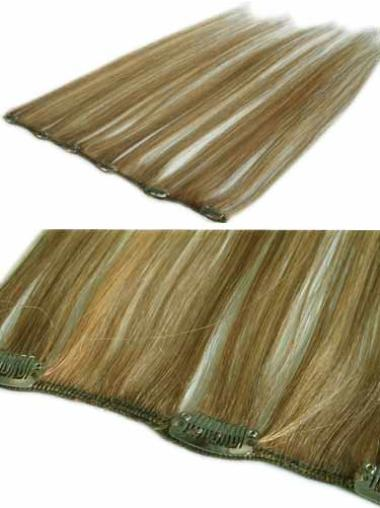 Classic Blonde Straight Clip in Hair Extensions