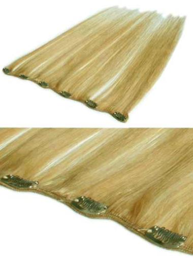 Durable Blonde Straight Clip in Hair Extensions