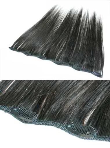 Fabulous Black Straight Clip in Hair Extensions