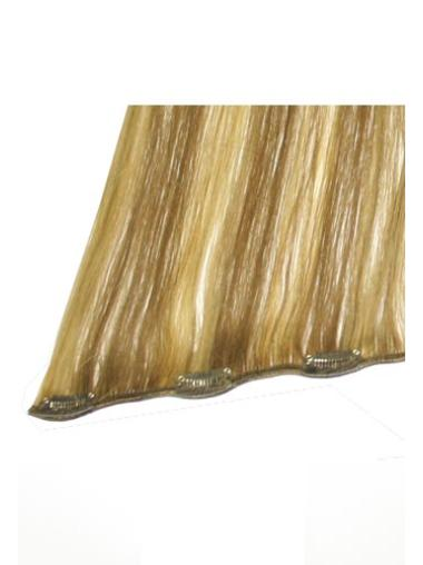Realistic Blonde Straight Clip in Hair Extensions