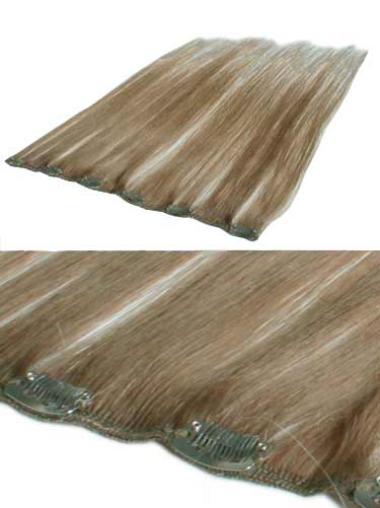 Sleek Blonde Straight Clip in Hair Extensions