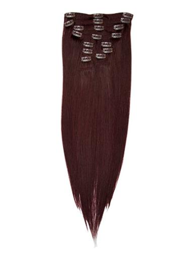 Style Red Straight Clip in Hair Extensions