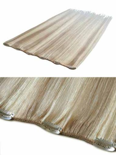Stylish Blonde Straight Clip in Hair Extensions