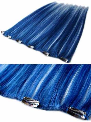Top Black Straight Clip in Hair Extensions