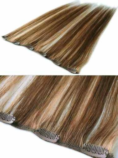 Trendy Brown Straight Clip in Hair Extensions