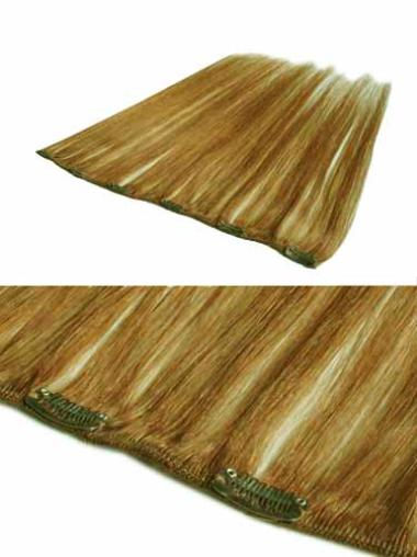 Affordable Blonde Straight Clip in Hair Extensions