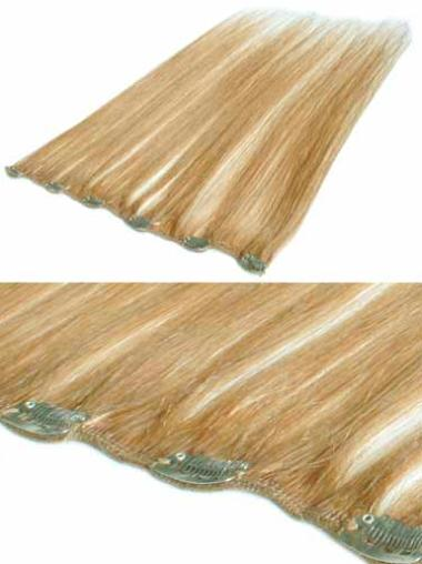 Amazing Blonde Straight Clip in Hair Extensions
