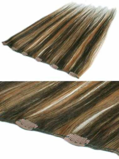 Beautiful Brown Straight Clip in Hair Extensions