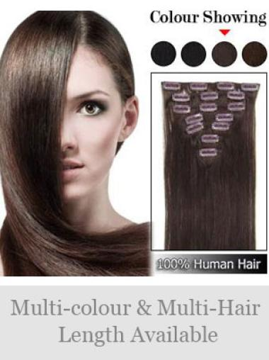 Designed Auburn Straight Clip in Hair Extensions