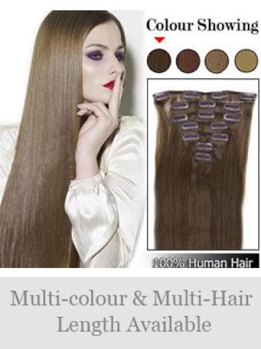 Flexibility Brown Straight Clip on Hair Extensions
