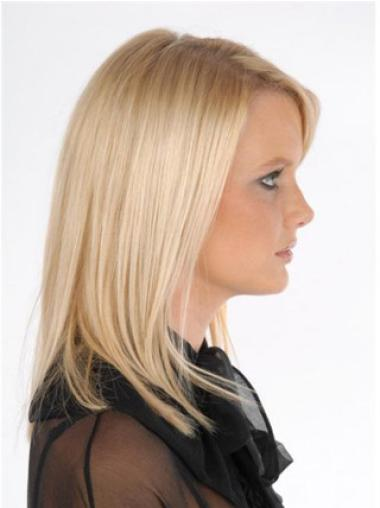 Stylish Blonde Straight Clip on Hair Extensions